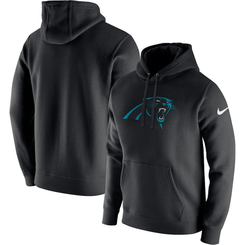 Men's Nike Black Carolina Panthers Club Fleece Logo Pullover Hoodie
