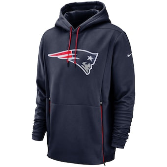 Men's Nike Navy New England Patriots Sideline Performance - Pullover Hoodie
