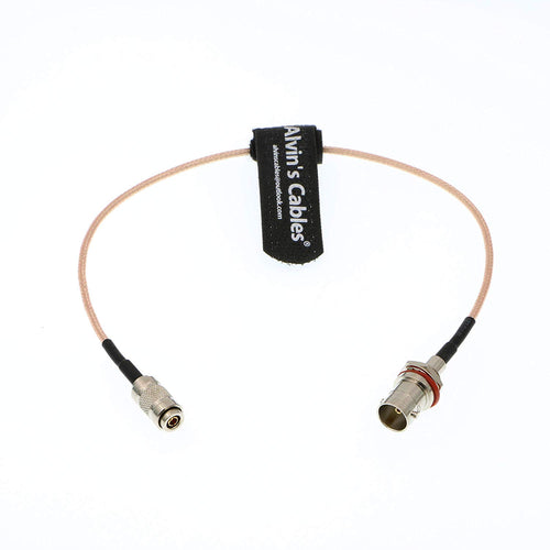 Alvin's Cables BNC Female to DIN 1.0 2.3 Male RG179 Cable 75 Ohm for Blackmagic