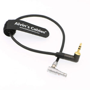 Alvin's Cables 5 Pin Right Angle Male to Right Angle 3.5mm TRS Audio Cable for Z CAM E2 Camera