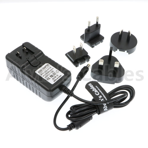 Alvin's Cables Universal AC to DC Power Adapter Cable for Z CAM E2 K1 Pro with US UK EU AU Plugs