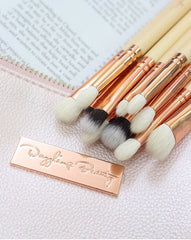 Dazzling Beauty 12 Pcs Luxury Rose Gold Eye Brush Set