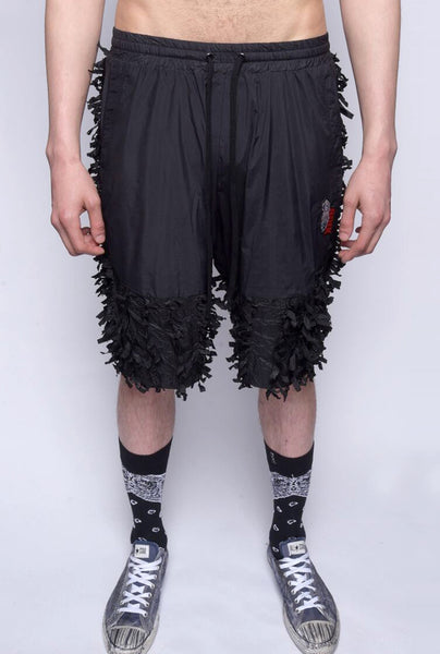 New Streetwear Brand Pants & Shorts, NYLON FRINGE COMBO SHORTS - 8DIX