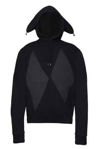 New Streetwear Brand Hoodies & Jumpers, HARLEQUIN HOODIE BLACK - 8DIX