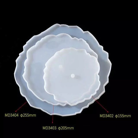 Silicone Mould - Cake Stand Geode Round (set of 3)