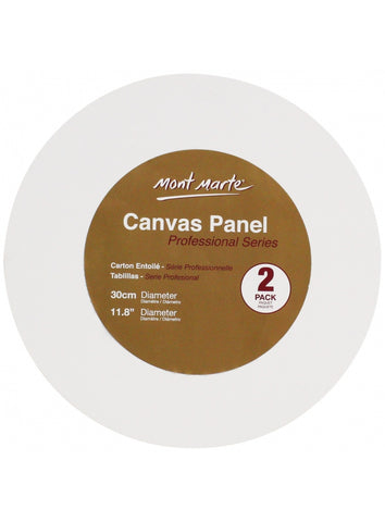 Professional Series Round Canvas Panel 30cm 2 Piece