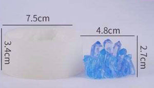 Silicone crystal Moulds -Silicone Geode Quartz Crystal Jewel