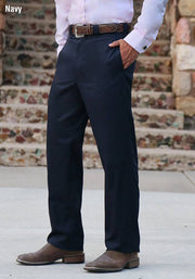 Model wearing High Lonesome Western Trousers in Navy