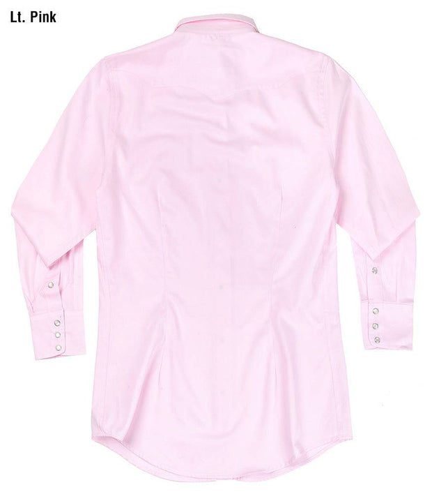 Prairie Lite Western Shirt in Light Pink, back