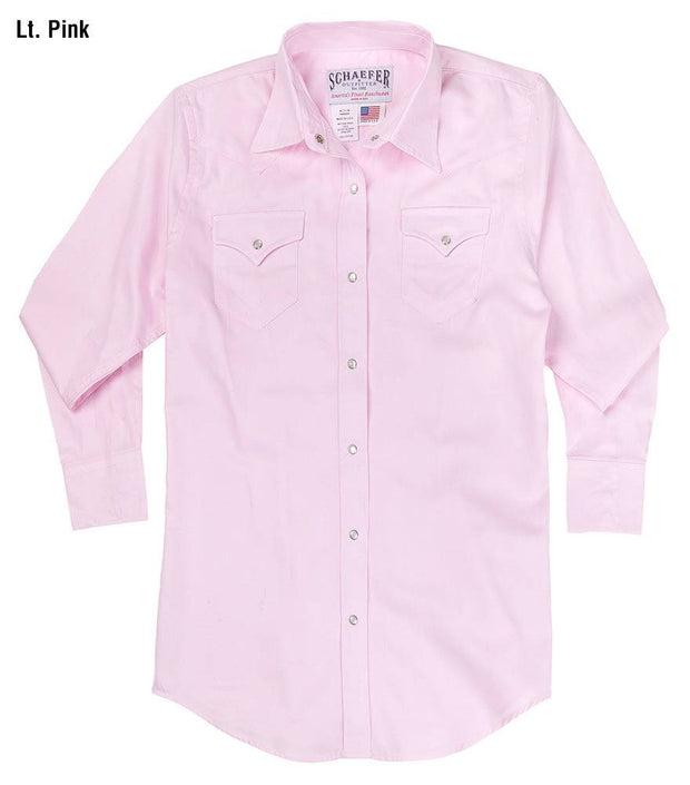 Prairie Lite Western Shirt in Light Pink, front