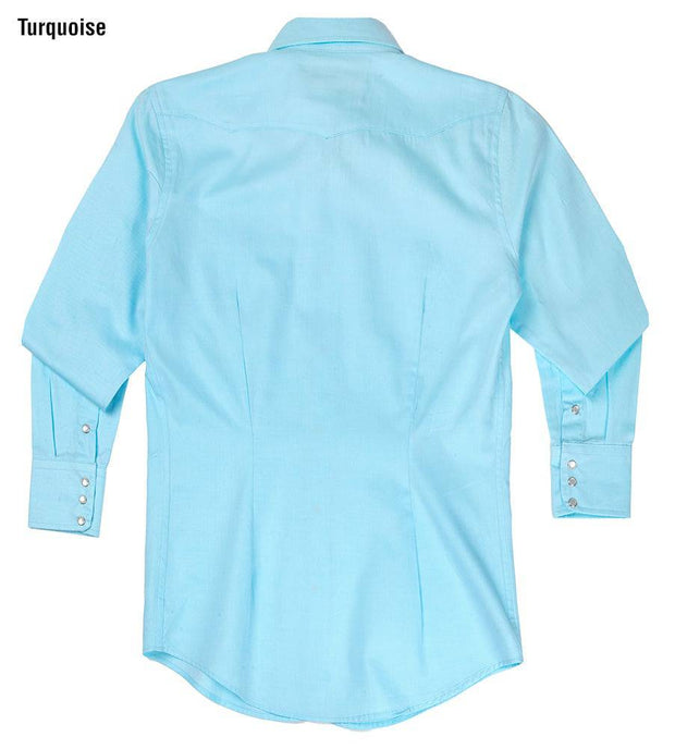 Ladies Prairie Lite Western Shirt in Turquoise, back