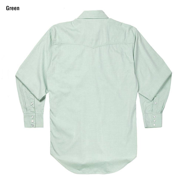 Classic Abilene Light Western Shirt in Green, back