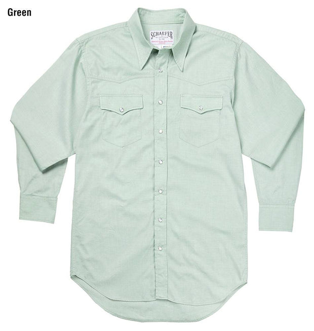Classic Abilene Light Western Shirt in Green, front