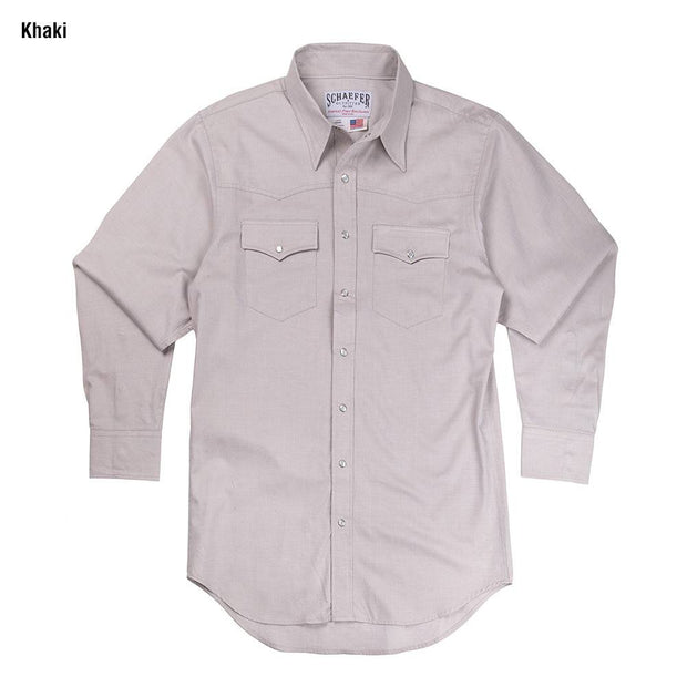 Classic Abilene Light Western Shirt in Khaki, front
