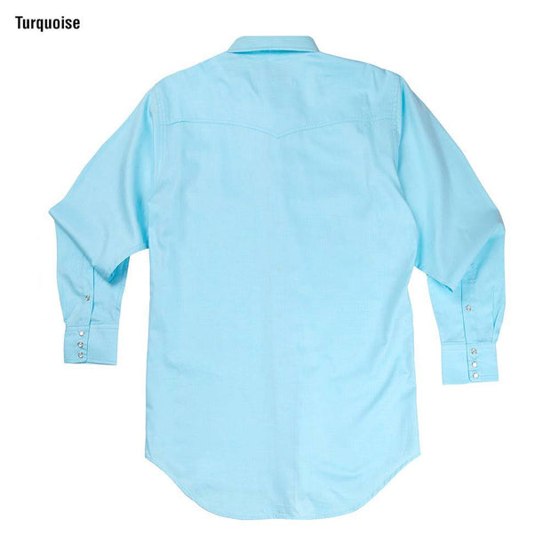Classic Abilene Light Western Shirt in Turquoise, back