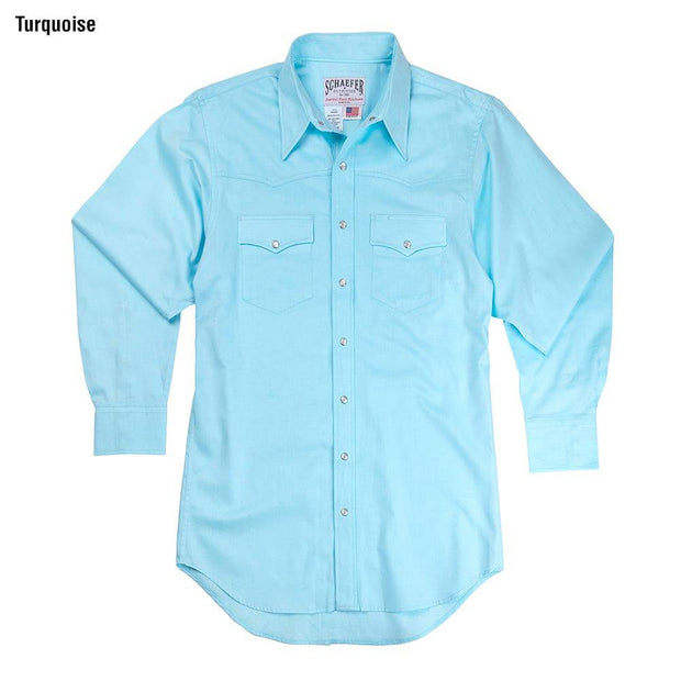 Classic Abilene Light Western Shirt in Turquoise, front