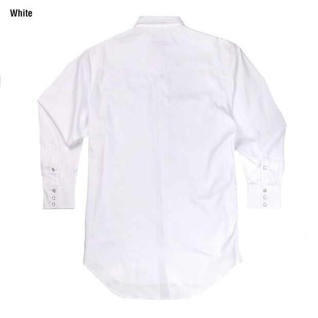 Classic Abilene Light Western Shirt in White, back