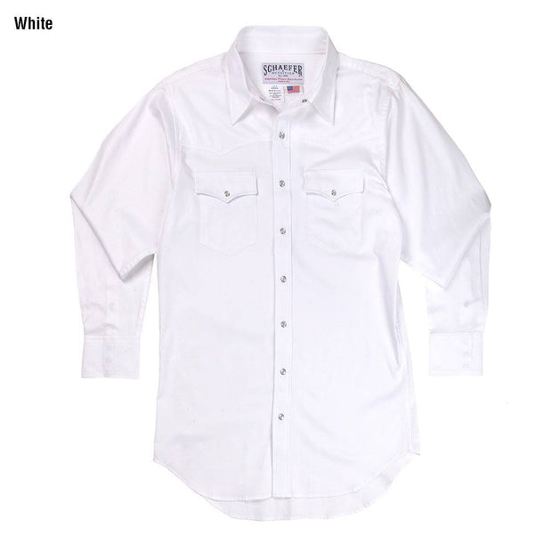 Classic Abilene Light Western Shirt in White, front