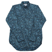 Frontier Paisley Western Shirt with Snaps in Blue, front