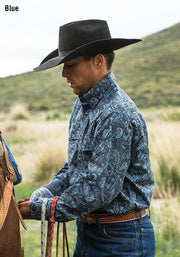 Frontier Paisley Western Shirt w/Snaps