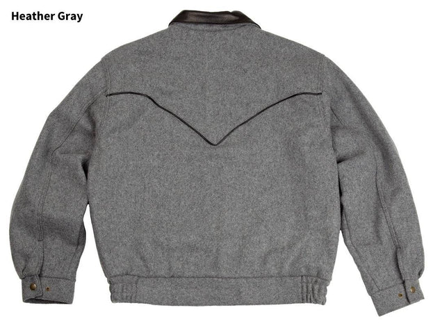 Bighorn Bomber Coat in Heather Gray, back