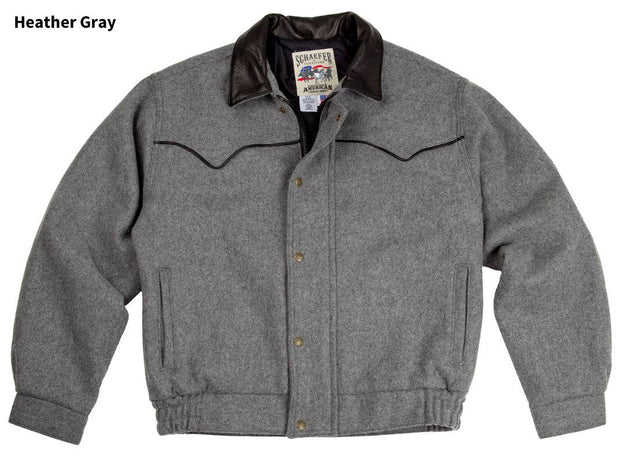 Bighorn Bomber Coat in Heather Gray, front