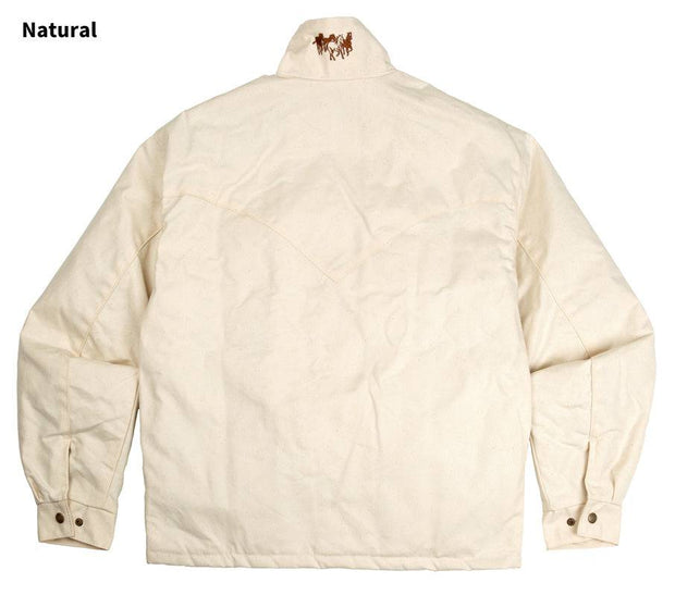 Fenceline Arena Jacket in Natural (white), back