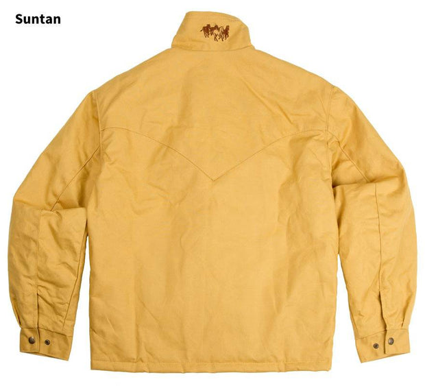 Fenceline Arena Jacket in Suntan (light brown), back