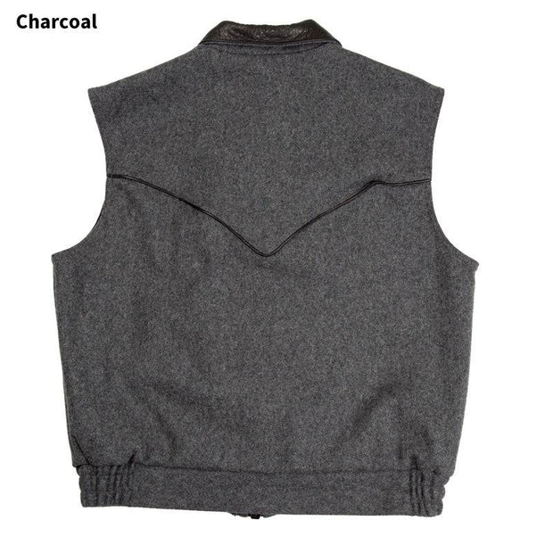 Competitor Vest in Charcoal (grey), back