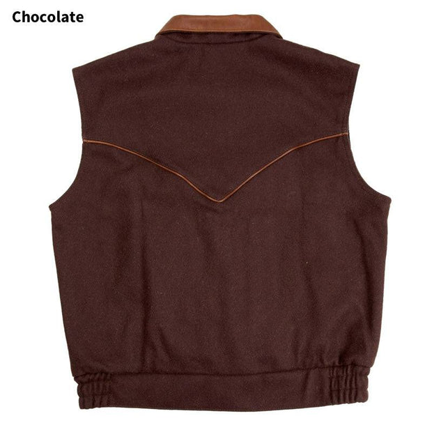 Competitor Vest in Chocolate (dark brown), back