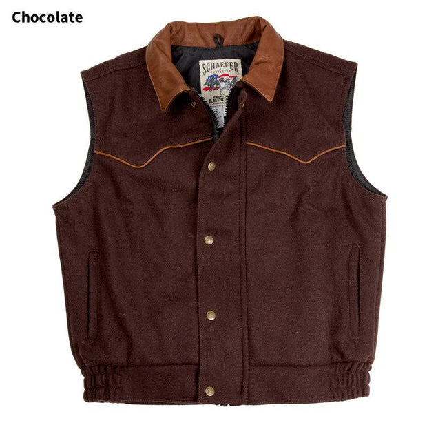 Competitor Vest in Chocolate (dark brown), front