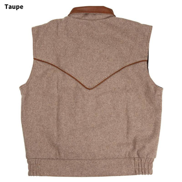 Competitor Vest in Taupe (light brown-grey), back