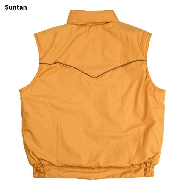 Catamount Vest in Suntan (light brown), back
