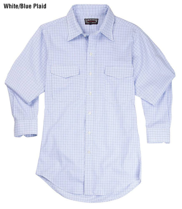 Reserve Pattern Western Shirt in White/Blue Plaid, front