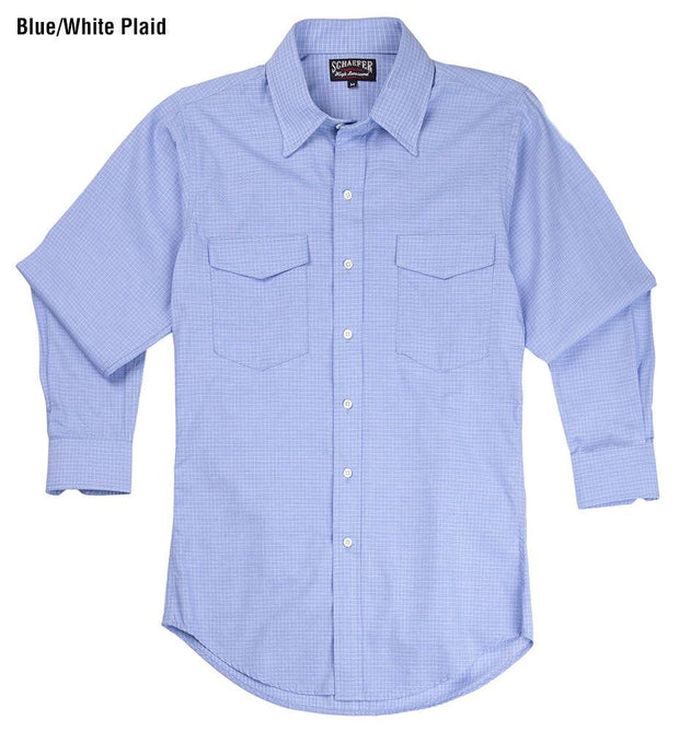 Reserve Pattern Western Shirt in Blue/White Plaid, front