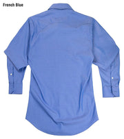 Reserve Western Shirt in French Blue, back