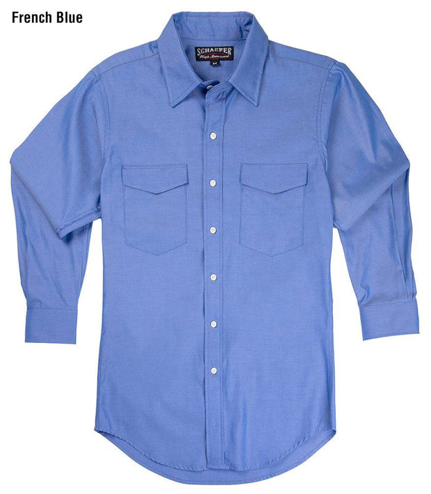 Reserve Western Shirt in French Blue, front