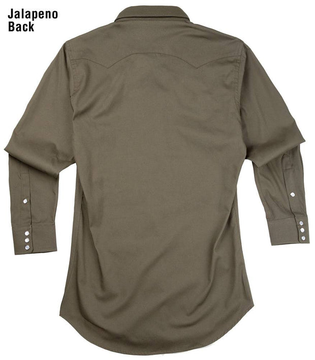 Remuda Ranch Western Shirt in Jalapeño (green), back