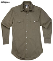 Remuda Ranch Western Shirt in Jalapeño (green), front