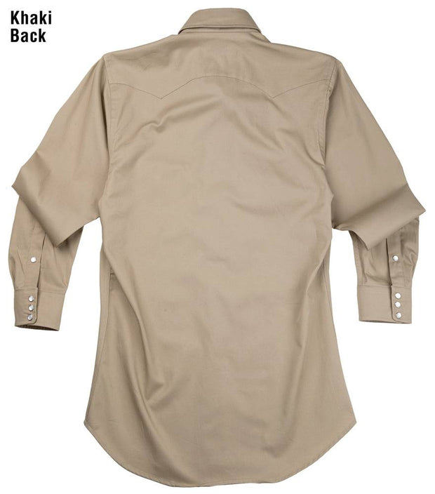 Remuda Ranch Western Shirt in Khaki, back