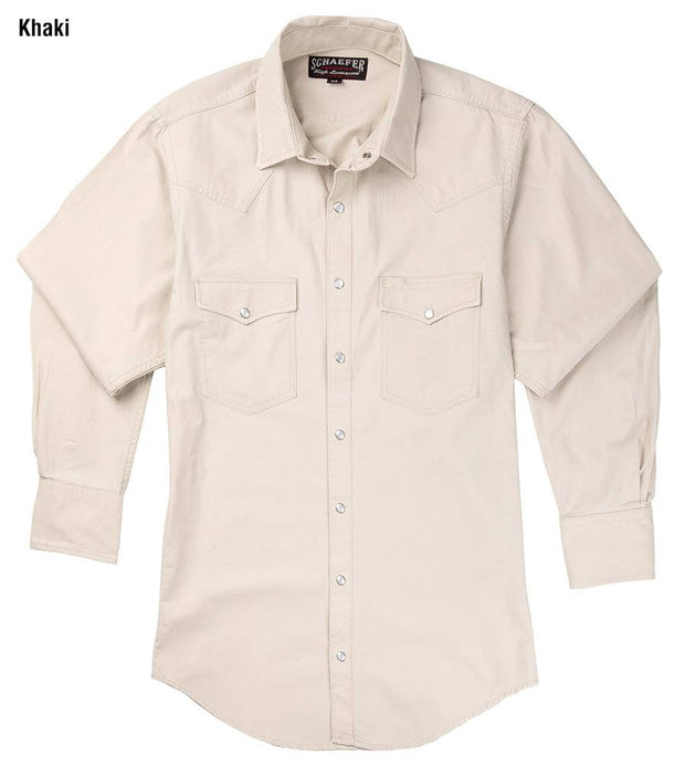 Vintage Ranch Western Shirt in Khaki, front