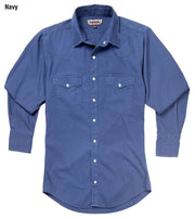 Cowboy wearing Vintage Ranch Western Shirt in Navy, front