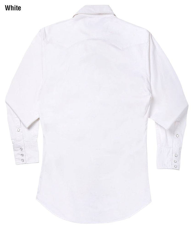 Cowboy wearing Vintage Ranch Western Shirt in White, back