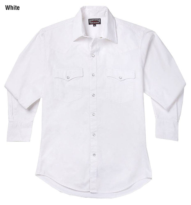 Cowboy wearing Vintage Ranch Western Shirt in White, front