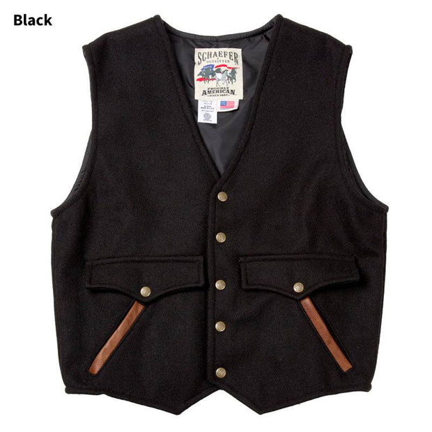 Stockman Vest in Black, front