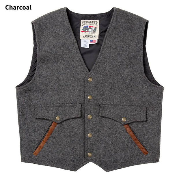 Stockman Vest in Charcoal (grey), front