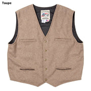 McKenzie Vest in Taupe (light brown-grey), front