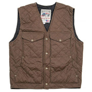 Blacktail Quilted RangeWax Vest in Oak (brown), front