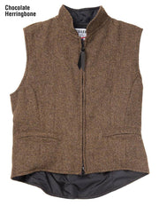Herringbone Cheyenne Vest in Chocolate (brown), front