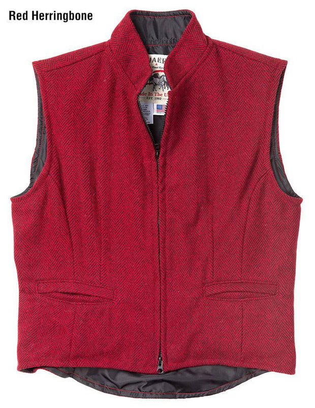 Herringbone Cheyenne Vest in Red, front